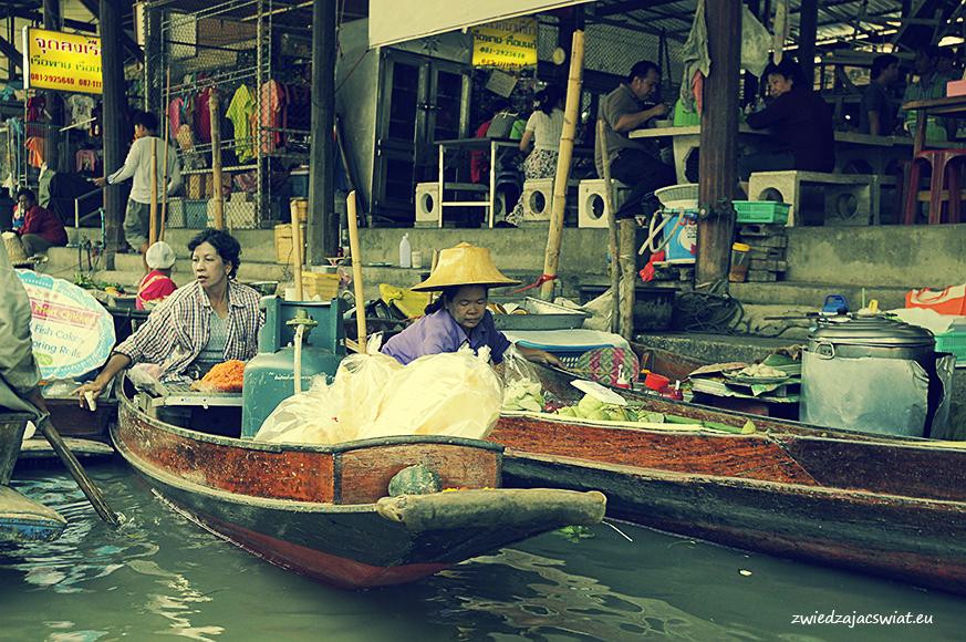 pływający targ w Damnoen Saduak