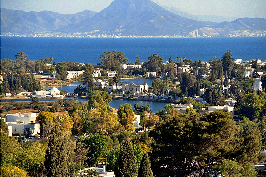 widok ze wzgórza Kartaginy