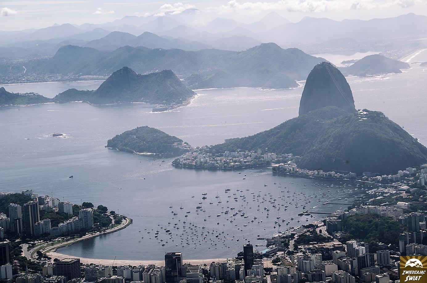 panorama Rio ze wzgórza Corcovado