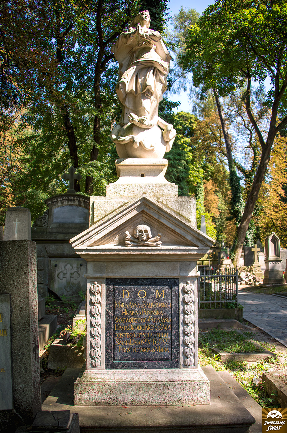 miejsce pochówku hrabiny Marii Anny Ponińskiej