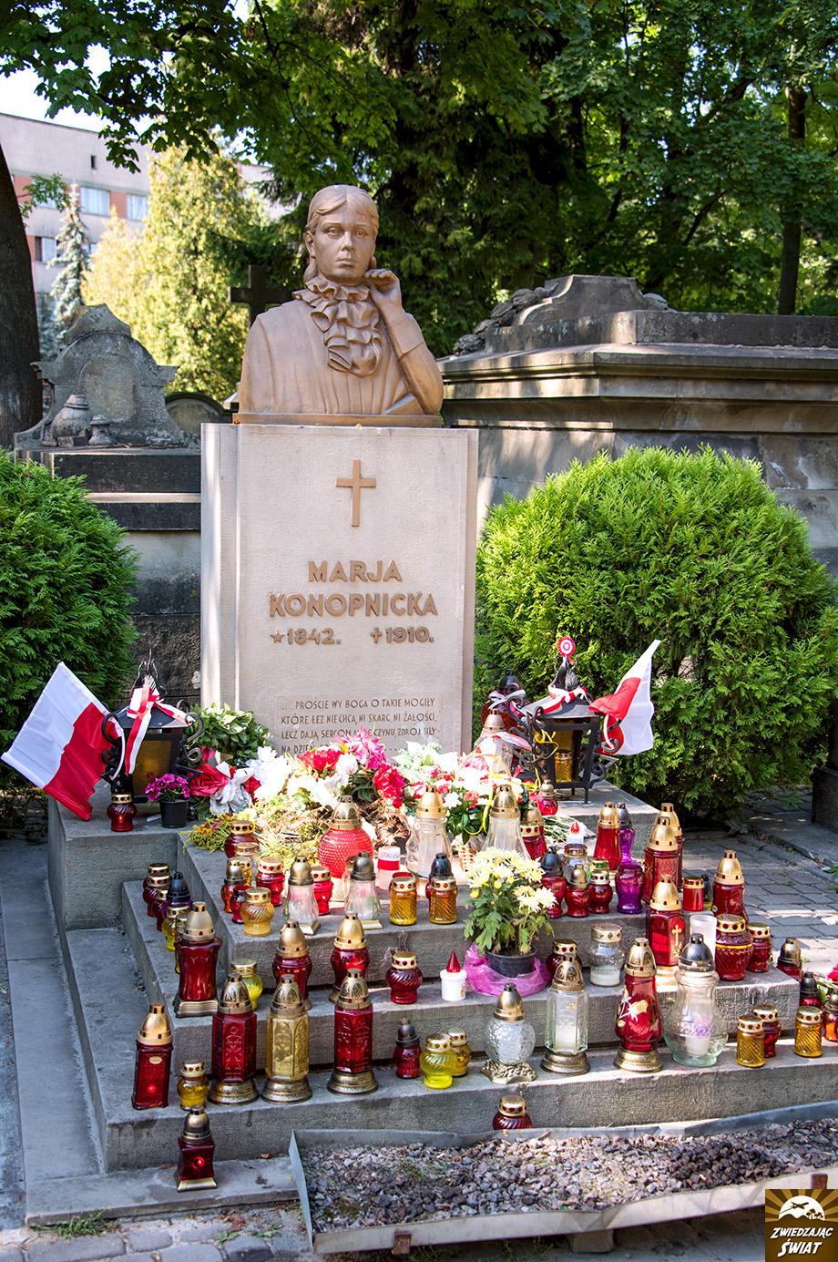 miejsce spoczynku Marii Konopnickiej, słynnej autorki utworów dla dzieci i młodzieży, poetki