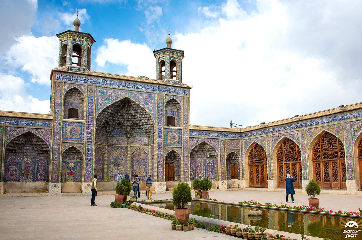 Różowy Meczet, Sziraz, Iran
