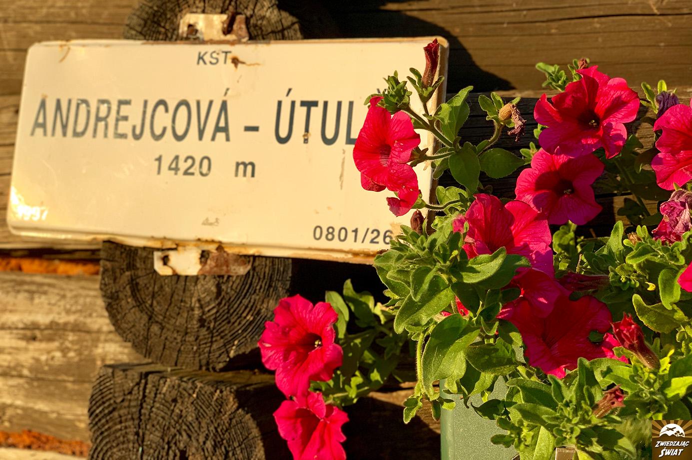 utulnia Andrejcová, Tatry Niżne, Słowacja
